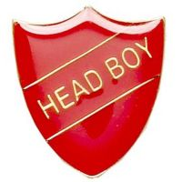 ShieldBadge Head Boy Red</br>SB017R
